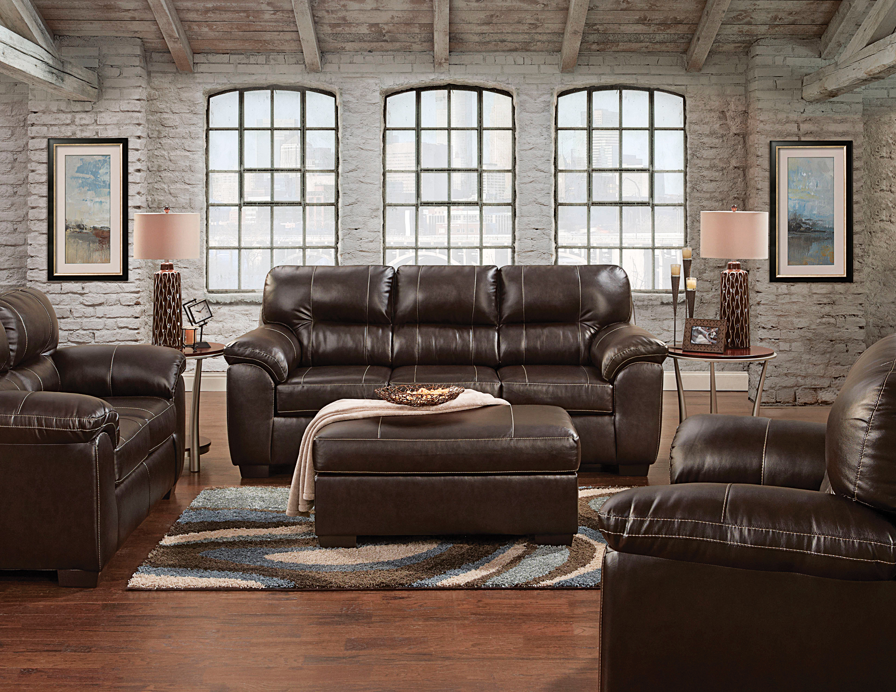 Affordable Furniture Sofa And Loveseat In Austin Chocolate